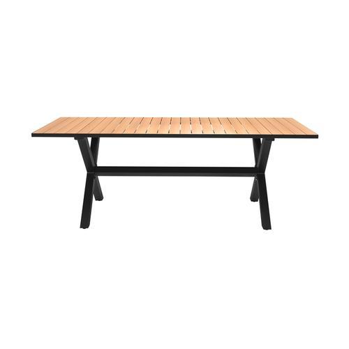 Armen Living - Paseo Outdoor Black Aluminum Rectangular Dining Table