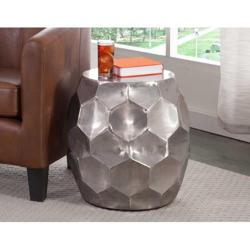 Gallery - Stomp Round End Table, Nickel