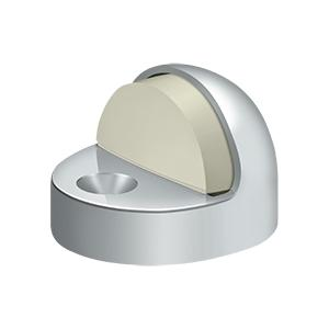 Deltana - Dome Stop High Profile, Solid Brass - Polished Chrome