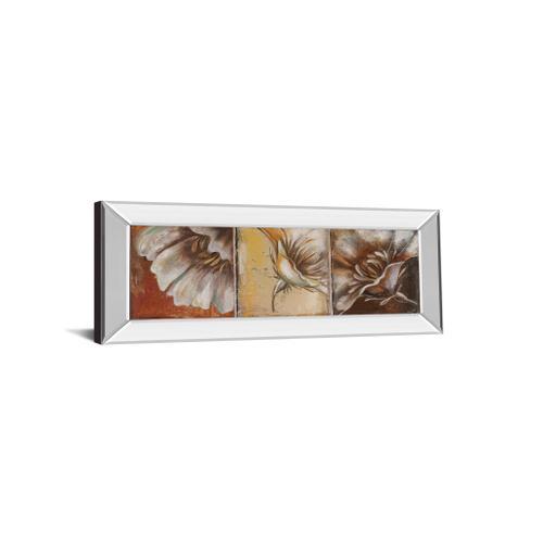 "Classy Art - ""The Three Poppies Il"" By Patricia Pinto Mirror Framed Print Wall Art"