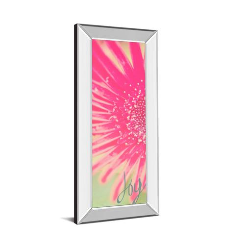 """Joy Flower"" By Susan Bryant Mirror Framed Print Wall Art"