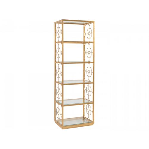 Gold Leaf Honeycomb Slim Etagere