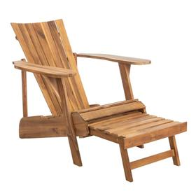 Merlin Adirondack Chair With Retractable Footrest - Natural