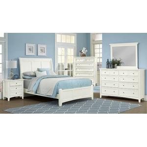 Queen White Sleigh Bed