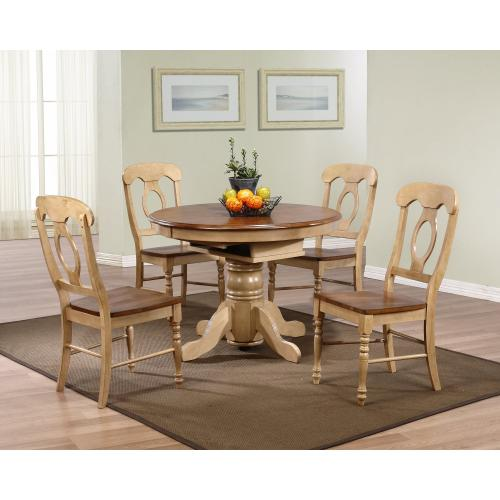 Round or Oval Butterfly Leaf Dining Set w/Napoleon Chairs (5 piece)