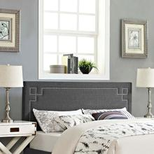 View Product - Josie Queen Upholstered Fabric Headboard in Gray