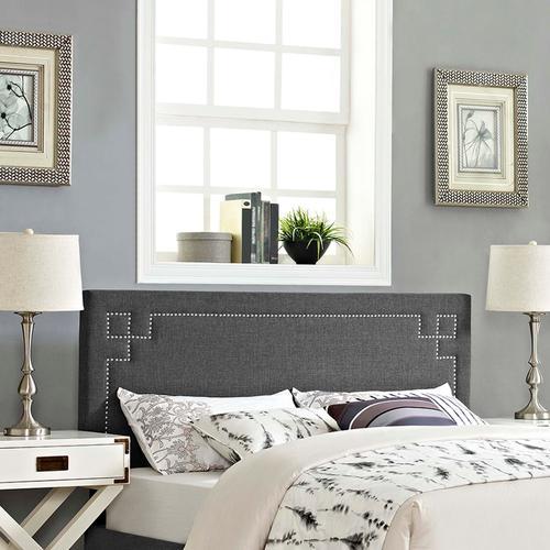 Modway - Josie Queen Upholstered Fabric Headboard in Gray