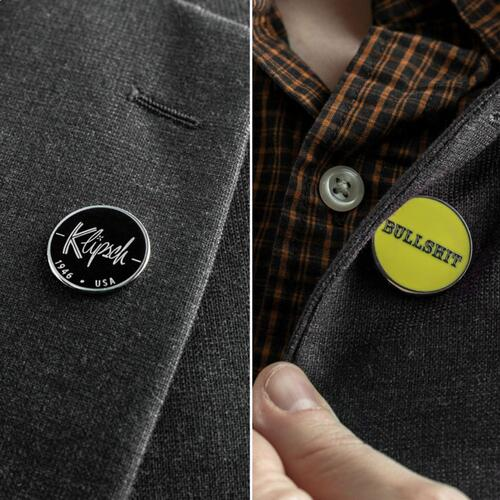 Official Double-Sided 'Bullshit' Lapel Button