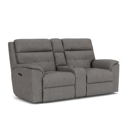 Mason Power Reclining Loveseat with Console & Power Headrests