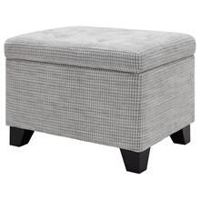 Julian Rectangular Fabric Storage Ottoman, Squarespace Gray