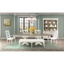 Myra Rectangular Dining Table with Base in Natural/Paperwhite Finish