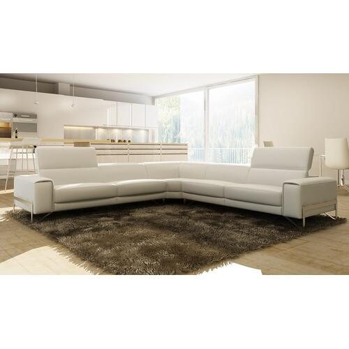 Divani Casa Cobana Modern White Italian Leather Sectional Sofa