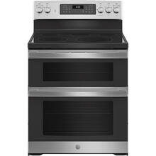 """See Details - GE® 30"""" Free-Standing Electric Double Oven Convection Range Stainless Steel - JBS86SPSS"""