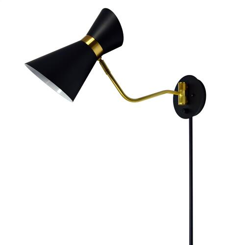 Product Image - 1lt Wall Lamp, Black & Vintage Bronze Finish