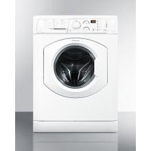 """See Details - Deluxe 24"""" wide washer/dryer combo in white built by Ariston for non-vented use, with 15 lb. wash capacity"""