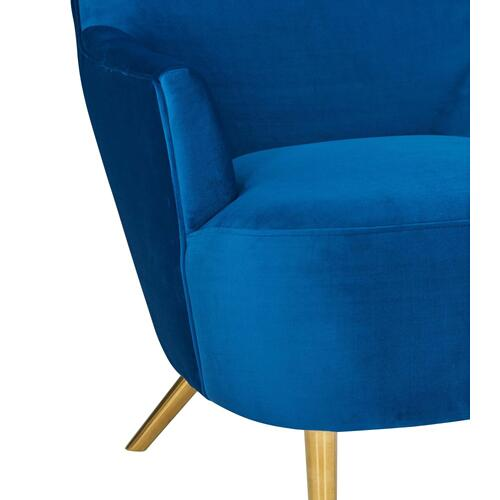 Julia Navy Wingback Chair by Inspire Me! Home Decor