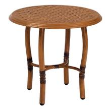 See Details - Glade Isle Tables Round End Table with Thatch Top