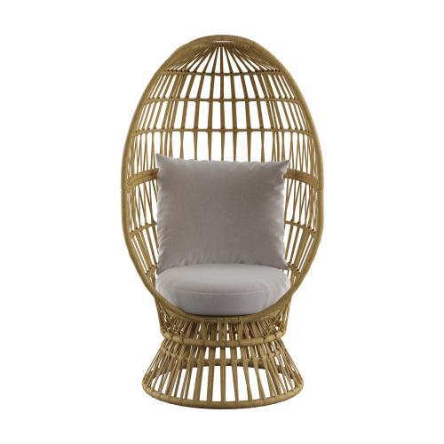 Emerald Home Furnishings - Outdoor Swivel Basket Chair