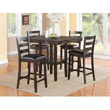 Tahoe 5 Piece Brown Dining Set
