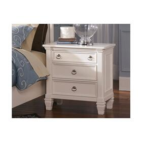 Prentice Three Drawer Night Stand White