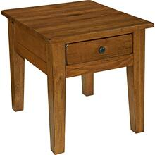 Attic Heirlooms End Table, Natural Oak Stain