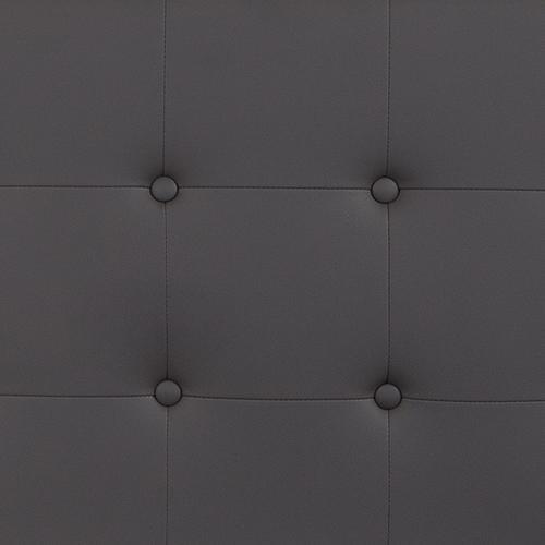 Lennox Tufted Upholstered Queen Size Headboard in Gray Vinyl