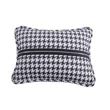 Hamilton Houndstooth Pillow W/ Piping & Zipper Detail, 13x17