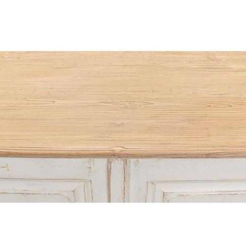 Antique Whitewash Sideboard, 6 Door