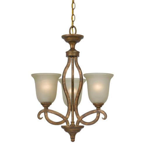 Cal Lighting & Accessories - 60Wx3 Emmett Iron 3 Lgt Chandelier