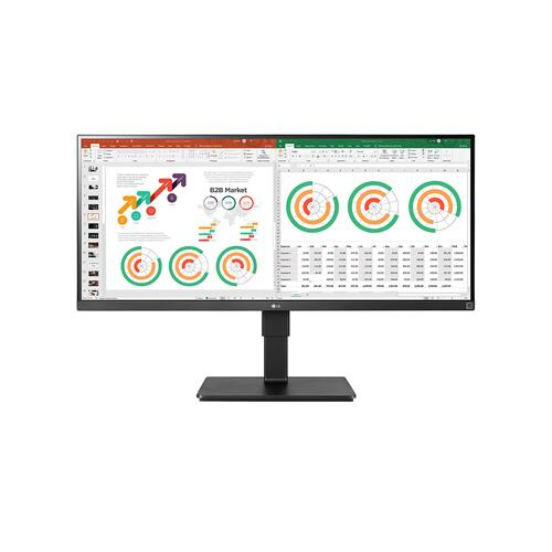 """LG - 34"""" IPS QHD UltraWide™ TAA Monitor (3440x1440) with HDR10, MAXX Audio Speakers, AMD Free Sync™, Dynamic Action Sync, Black Stabilizer"""