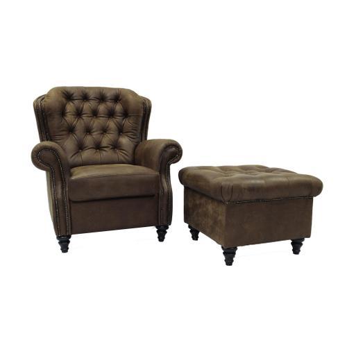Sitara Chair W/Woodland Spice Leather