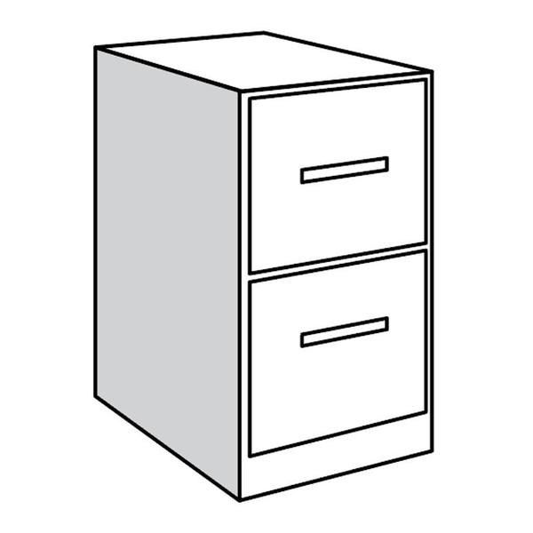 """See Details - Base Unit, 21""""w with 2 file drawers"""