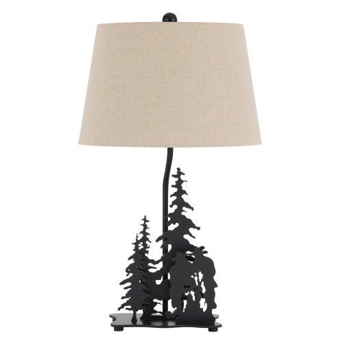 Cal Lighting & Accessories - 150W 3 Way Cowboy Metal Table Lamp