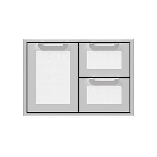 """Hestan - 30"""" Hestan Outdoor Combo Door/Drawer - AGSDR Series - Froth"""
