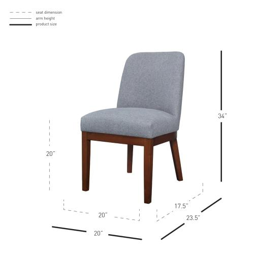 Product Image - Ashley Fabric Dining Side Chair, Havana Gray