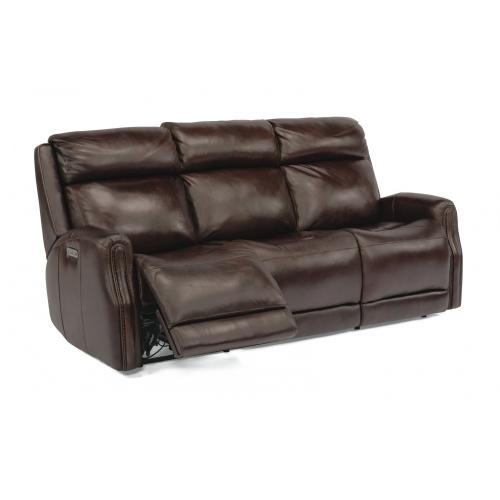 Stanley Power Reclining Sofa with Power Headrests