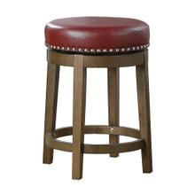 Round Swivel Counter Height Stool, Red