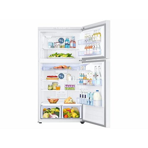 21 cu. ft. Top Freezer Refrigerator with FlexZone™ in White