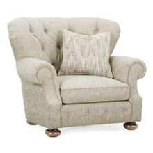 """46"""" Casual Medium Driftwood Sofa Chair, Upholstered in Marker"""
