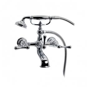 Asbury - Claw Foot Bathtub Filler with Handshower - Brushed Nickel