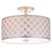 See Details - Hutch 3 Light 16-inch Dia Silver Flush Mount - Silver