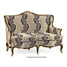 See Details - Two seater sofa with gilded carving, upholstered in COM