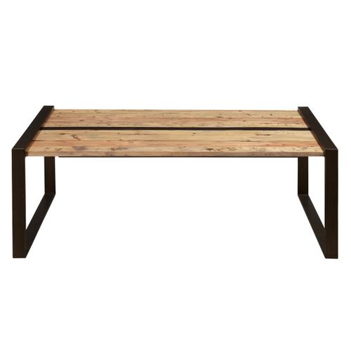 Reclaimed Wood & Metal Cocktail Table