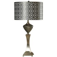 See Details - Sippai  Glass & Metal Table Lamp with Lazer Cut Shade