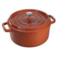 Staub Cast Iron Round Cocotte 4-Quart, Burnt Orange