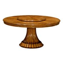 "71"" Round dining table with lazy susan"