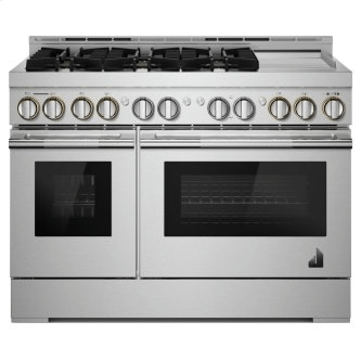 """48"""" RISE™ Gas Professional-Style Range with Chrome-Infused Griddle"""