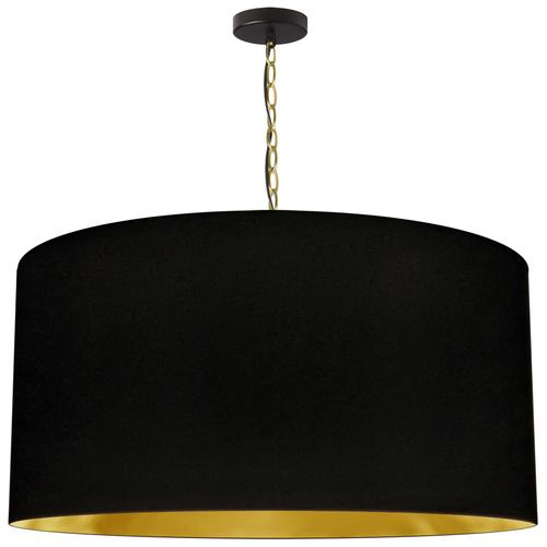Product Image - 1lt Braxton X-large Pendant, Blk/gld Shade, Agb