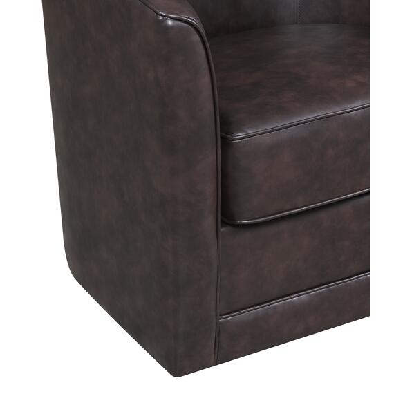 Milo Swivel Accent Chair, Chocolate Brown U5029c-04-65a
