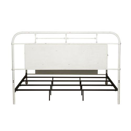 Liberty Furniture Industries - Queen Metal Bed - Antique White